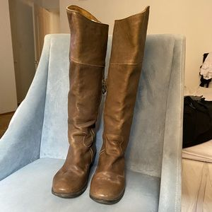 Fiorentini+Baker brown knee high boots